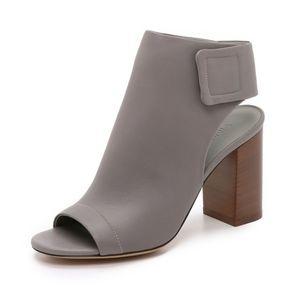 HP💜 Vince Faye Open-Toe Leather Booties